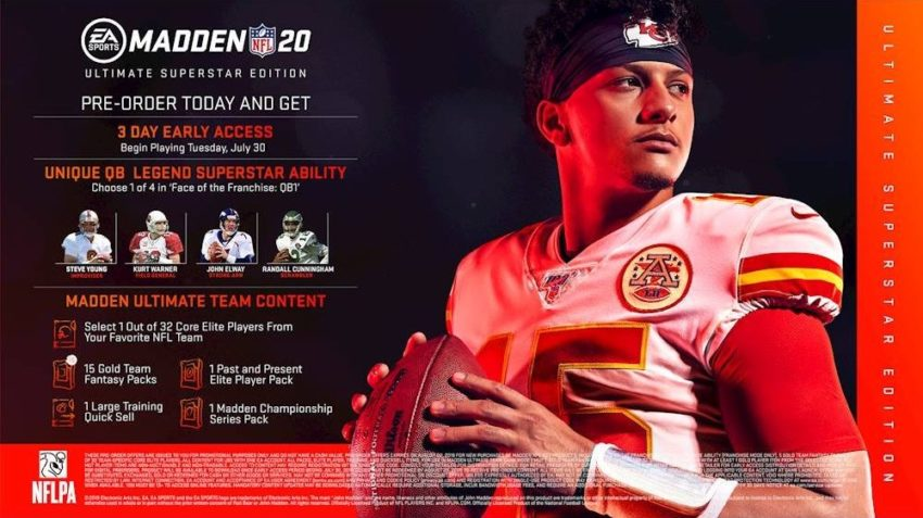 What you get with the standard Madden 20 Ultimate Superstar edition.