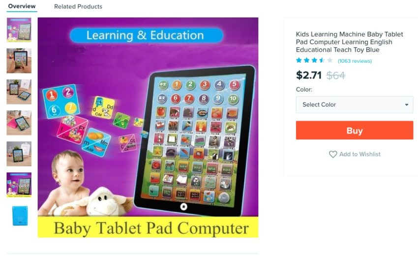 A Tablet for Your Baby
