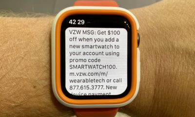 Save $100 on the Apple Watch 5 and other LTE smartwatches at Verizon.