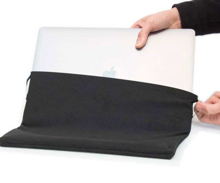 The Suede Jacket Macbook Pro sleeve is custom fit for the MacBook Pro 16-inch.